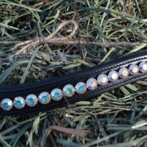 crystal black browband - aurora golden 5