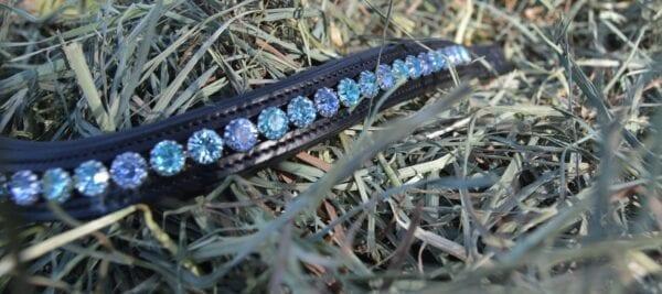crystal black browband - blue multi 5