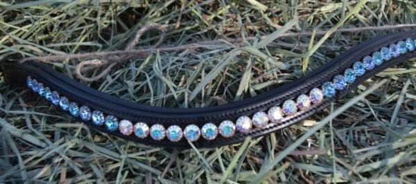 crystal black browband - blue multi w aurora 3