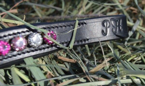 crystal black browband - pink multi 5