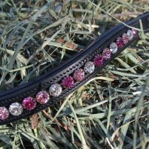 crystal black browband - pink multi