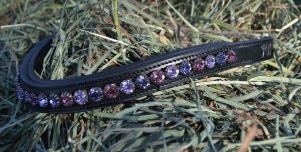 crystal black browband - purple multi 2