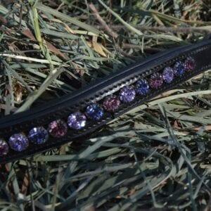 crystal black browband - purple multi 4